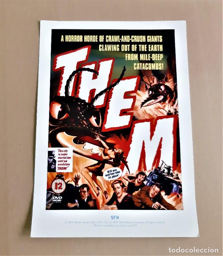 Cine: SFX PRINT póster de película THEM 21x 29cm aprox. - Foto 2 - 191740148