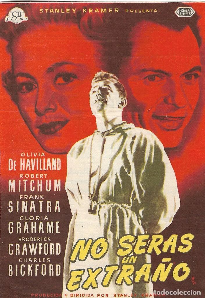 PROGRAMA DE CINE - NO SERÁS UN EXTRAÑO - ROBERT MITCHUM, OLIVIA DE HAVILLAND - ECHEGARAY (MÁLAGA) (Cine - Folletos de Mano - Drama)