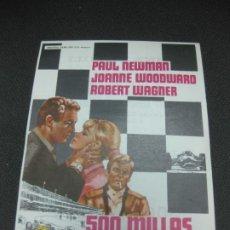 Cine: PROGRAMA DE CINE 500 MILLAS. PAUL NEWMAN, JOANNE WOODWARD. . Lote 191913590