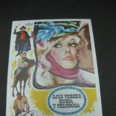 Cine: PROGRAMA DE CINE. OJOS VERDES RUBIA Y PELIGROSA. KIM NOVAK. 1969.. Lote 191914226
