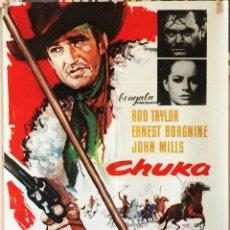 Cine: CHUKA. ROD TAYLOR-ERNEST BORGNINE. CARTEL ORIGINAL 1967. 70X100. Lote 191924797