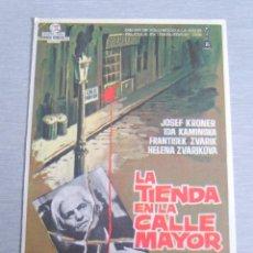Cine: PROGRAMA DE CINE - LA TIENDA EN LA CALLE MAYOR. Lote 210317490