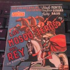Cine: PROGRAMA DE CINE - LOS MOSQUETEROS DEL REY S/P. Lote 192057267