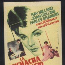 Folhetos de mão de filmes antigos de cinema: P-8587- LA MUCHACHA DEL TRAPECIO ROJO (THE GIRL IN THE RED VELVET SWING) RAY MILLAND. Lote 192068227