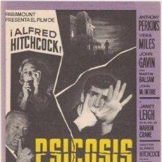 Cine: PSICOSIS. Lote 192189616