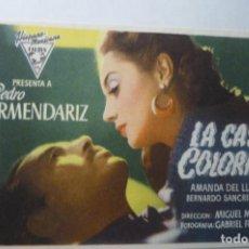 Cine: PROGRAMA LA CASA COLORADA.- PEDRO ARMENDARIZ.- SELLO CINE MARIA CRISTINA -UBRIQUE. Lote 192280488