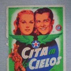 Cine: PROGRAMA DE CINE - CITA EN LOS CIELOS. Lote 210317562
