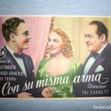 Cine: PROGRAMA DE CINE - CON SU MISMA ARMA. Lote 210317772