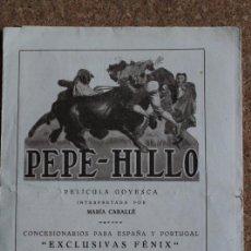 Cine: PEPE-HILLO. PELÍCULA GOYESCA INTERPRETADA POR MARÍA CABALLÉ.. Lote 192441911