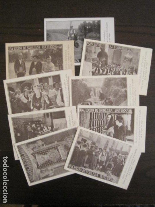NOBLEZA BATURRA-CONJUNTO DE 9 PROGRAMAS DE CINE-VER FOTOS.(V-18.839) (Cine - Folletos de Mano - Aventura)