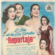 Flyers Publicitaires de films Anciens: PROGRAMA DE CINE - REPORTAJE - ARTURO DE CÓRDOVA, DOLORES DEL RIO - CIFESA - PLAZA DE TOROS - 1953.. Lote 192490502