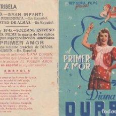 Cine: PRIMER AMOR. PROGRAMA DOBLE CON PUBLICIDAD.. Lote 193015190
