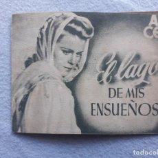 Cine: EL LAGO DE MIS ENSUEÑOS. CRISTINA SODERBAUM, PAUL KLINGER Y KARL RADDATZ. AÑO 1946.. Lote 193260011