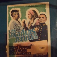 Cine: LAS AGUILAS AZULES - SENCILLO CON PUBLICIDAD CINE LICEO MALGRAT DE MAR - PERFECTO. Lote 193274822