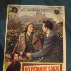 Cine: NO ESTAMOS SOLOS - SENCILLO CON PUBLICIDAD CINE LICEO BARCELONA - PERFECTO. Lote 193319872
