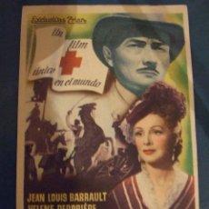 Cine: DE HOMBRE A HOMBRES BARRAULT - SENCILLO CON PUBLICIDAD CINE TROPICAL MALGRAT DE MAR - PERFECTO. Lote 193329432