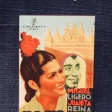 Cine: MACARENA PROGRAMA DE MANO ORIGINAL AÑO 1944 INT JUANITA REINA MIGUEL LIGERO. Lote 193394977