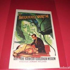 Cine: EL ARQUERO VERDE. PUBLICIDAD AL DORSO. AÑO 1961.. Lote 193412233