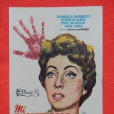Foglietti di film di film antichi di cinema: MI ENCANTADORA ASESINA, IMPECABLE SENCILLO ORIGINAL, DANIELLE DARRIEUX, SIN PUBLI. Lote 193426488