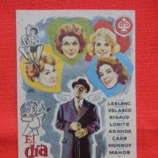 Cine: EL DIA DE LOS ENAMORADOS, IMPECABLE SENCILLO, TONY LEBLANCH, C/PUBLI FÉMINA. Lote 193428581
