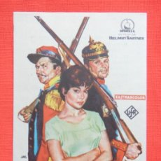 Foglietti di film di film antichi di cinema: GUERRA CON CUARTEL, IMPECABLE SENCILLO, HARDY KRUGER, C/PUBLI T. CIRCO C. RIACHO. Lote 193430250