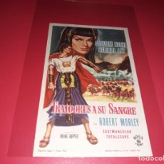 Folhetos de mão de filmes antigos de cinema: TRAIDORES A SU SANGRE. PUBLICIDAD AL DORSO. AÑO 1962. Lote 193637682
