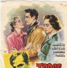 Cine: PROGRAMA DE CINE - TODOS SON MIS HIJOS - CARMEN MONTEJO - TEATRO CINE ROYAL (MÁLAGA) - 1951.. Lote 193742440