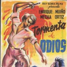 Cine: PROGRAMA DE CINE - TORMENTA DE ODIOS - ENRIQUE MUIÑO, MECHA ORTIZ - TEATRO CERVANTES (MÁLAGA)- 1954.. Lote 193745665