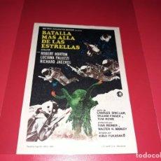 Cine: BATALLA MAS ALLA DE LAS ESTRELLAS. PUBLICIDAD AL DORSO. AÑIO 1968. Lote 193952652