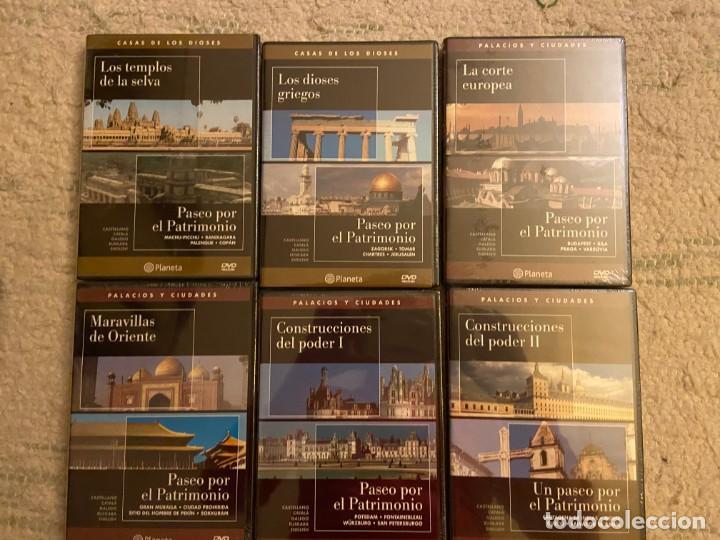 COLECCION PASEO POR EL PATRIMONIO. 12 DVDS EDITORIAL PLANETA (Cine - Folletos de Mano - Documentales)
