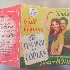Cine: EL PESCADOR DE COPLAS-DOBLE. Lote 194027370