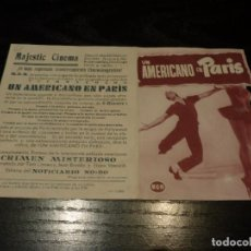 Cine: PROGRAMA DE CINE IMPRESO EN LA PARTE TRASERA. Lote 194076632
