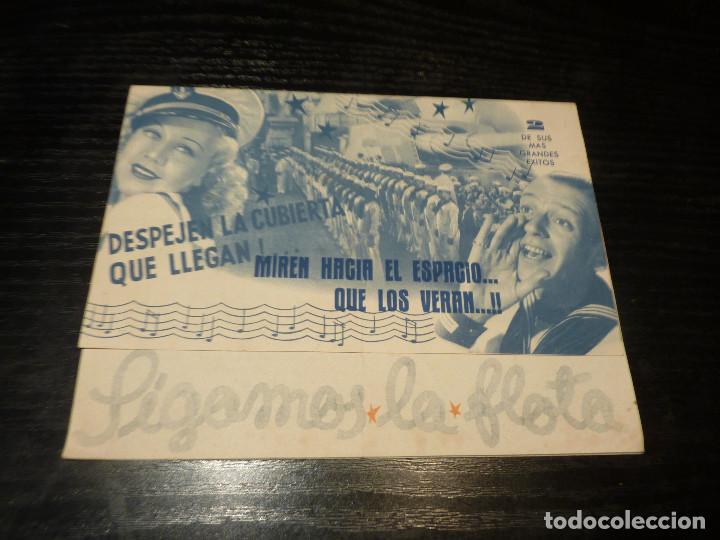 PROGRAMA DE CINE IMPRESO EN LA PARTE TRASERA (Cine - Folletos de Mano - Musicales)