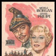 Cine: FOLLETO DE MANO, LAS MANIOBRAS DEL AMOR, MICHELE MORGAN Y GERARD PHILIPE.. Lote 194143717