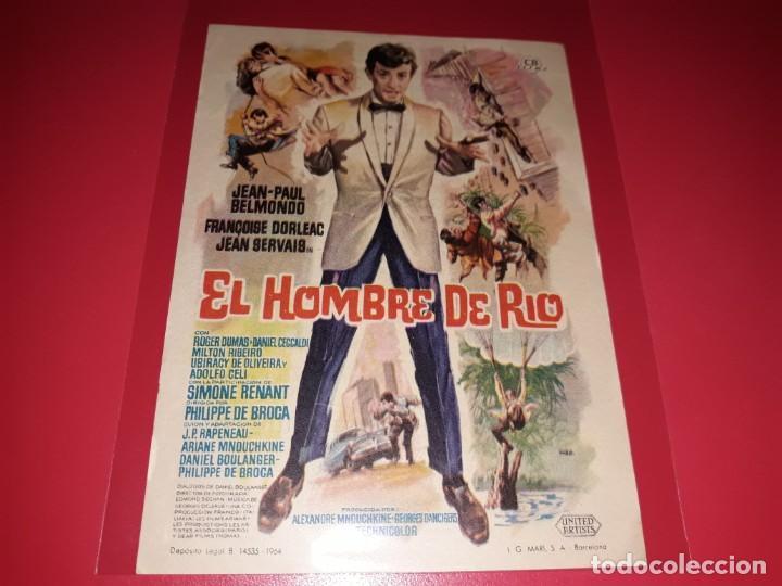 EL HOMBRE DE RIO CON JEAN PAUL BELMONDO. PUBLICIDAD AL DORSO. AÑO 1964 (Cine - Folletos de Mano - Acción)