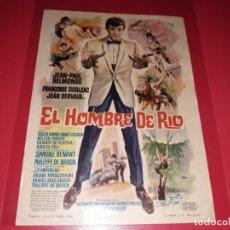 Cine: EL HOMBRE DE RIO CON JEAN PAUL BELMONDO. PUBLICIDAD AL DORSO. AÑO 1964. Lote 194143951
