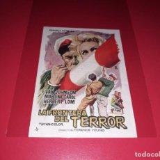 Cine: LA FRONTERA DEL TERROR. PUBLICIDAD AL DORSO. AÑO 1957.. Lote 194145776