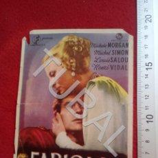 Cine: TUBAL FABIOLA CINE VICTORIA SEVILLA PROGRAMA DE MANO 100% ORIGINAL B46. Lote 194148770