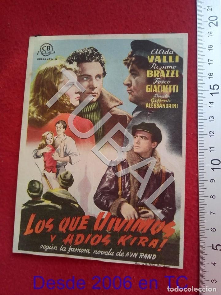 TUBAL LOS QUE VIVIMOS CINE RIALTO SEVILLA PROGRAMA DE MANO 100% ORIGINAL B46 (Cine - Folletos de Mano - Comedia)