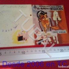 Cine: TUBAL UN HOMBRE DE NEGOCIOS PROGRAMA DE MANO 100% ORIGINAL B46. Lote 194149176