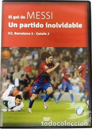 DVD EL GOL DE MESSI UN PARTIDO INOLVIDABLE (Cine - Folletos de Mano - Deportes)