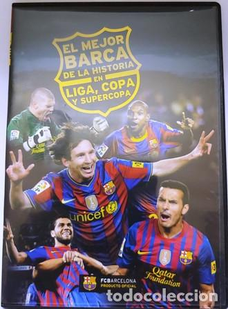 DVD EL MEJOR BARÇA DE LA HISTORIA EN LIGA, COPA Y SUPERCOPA (Cine - Folletos de Mano - Deportes)