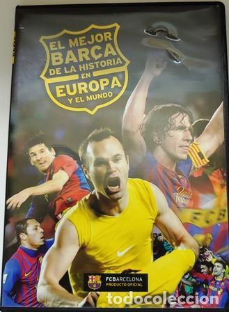 DVD EL MEJOR BARÇA DE LA HISTORIA EN EUROPA Y EL MUNDO (Cine - Folletos de Mano - Deportes)