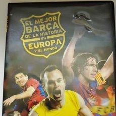 Cine: DVD EL MEJOR BARÇA DE LA HISTORIA EN EUROPA Y EL MUNDO. Lote 194153800