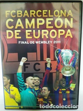 DVD F. C. BARCELONA CAMPEÓN DE EUROPA FINAL DE WEMBLEY 2011 (Cine - Folletos de Mano - Deportes)