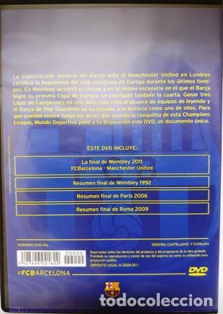 Cine: DVD F. C. BARCELONA CAMPEÓN DE EUROPA FINAL DE WEMBLEY 2011 - Foto 3 - 194153997