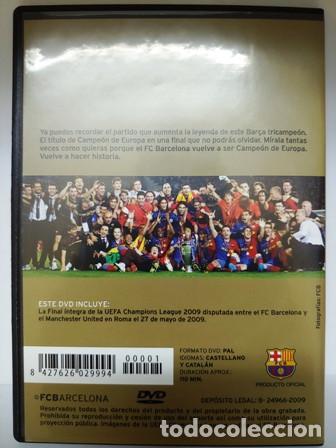 Cine: DVD F. C. BARCELONA CAMPEÓNES DE EUROPA 2009 LA FINAL DE ROMA - Foto 3 - 194154181