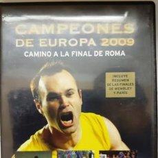 Cine: DVD F. C. BARCELONA CAMPEÓNES DE EUROPA 2009 CAMINO A LA FINAL DE ROMA. Lote 194154302