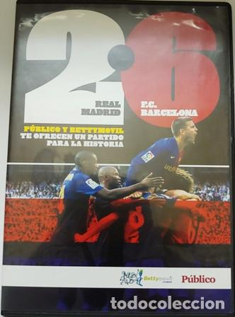 DVD REAL MADRID - F.C. BARCELONA 2 - 6 (Cine - Folletos de Mano - Deportes)