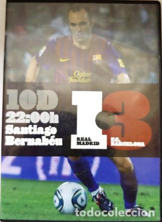 DVD REAL MADRID - F.C. BARCELONA 1 - 3 SANTIAGO BERNABEU (Cine - Folletos de Mano - Deportes)